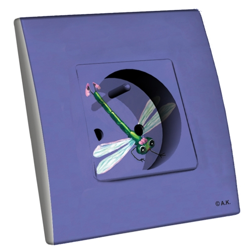 Interrupteur d cor ursule la libellule for Interrupteur decore