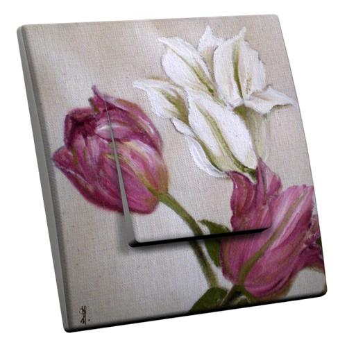 Interrupteur d cor tulipes for Interrupteur decore