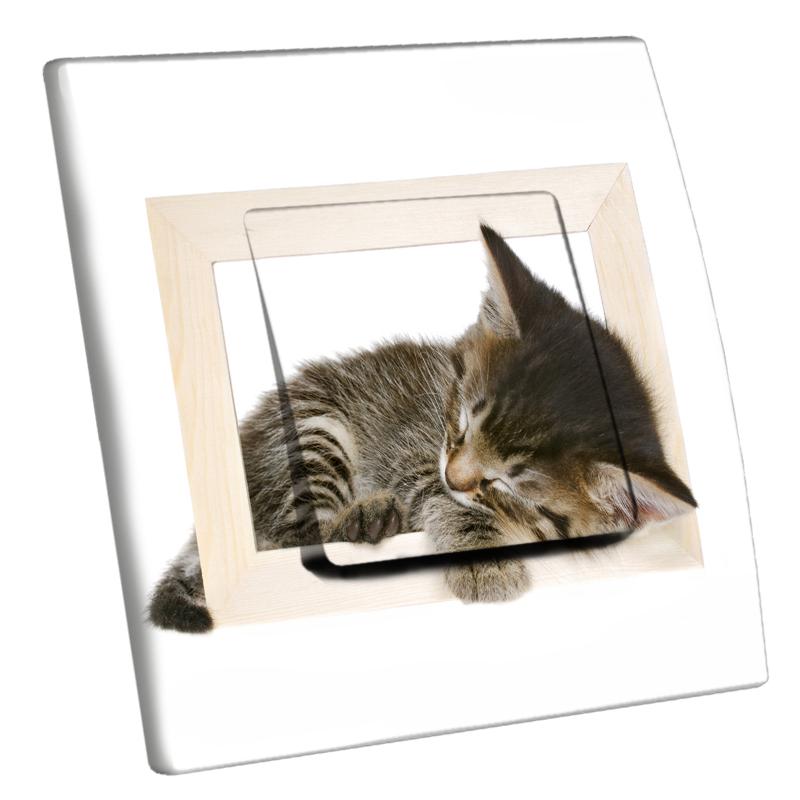 Interrupteur d cor chat endormi for Interrupteur decore