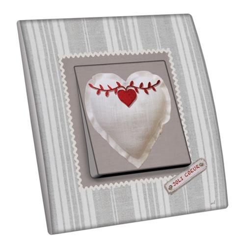 Interrupteur d cor joli coeur for Interrupteur decore