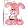 Interrupteur décoré Lapin rose