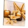 Interrupteur décoré Étoiles de mer et bougies
