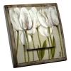 Interrupteur décoré Tulipes blanches