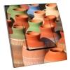 Interrupteur décoré Poteries multicolores