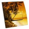 Interrupteur décoré île paradisiaque