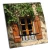 Interrupteur décoré Fenêtre provençale