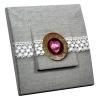 Interrupteur décoré Médaillon de Rose en Dentelle