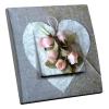 Interrupteur décoré Coeur et Rose