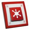 Interrupteur décoré Flocon Rouge L.FAYS