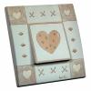 Interrupteur décoré Pastel de Coeur L.FAYS