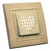 Interrupteur décoré Coeur Vichy