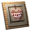 Interrupteur décoré Coeur de Montagne