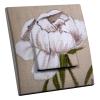 Interrupteur décoré Fleur Blanche