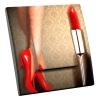 Interrupteur décoré Red Shoes