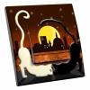 Interrupteur décoré Chat Noir-Chat Blanc