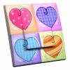 Interrupteur décoré Multi Coeurs
