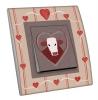 Interrupteur décoré Coeur et vache