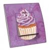 Interrupteur décoré Cupcake violet