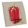 Interrupteur décoré Poivron rouge