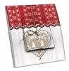Interrupteur décoré Coeur et rideau rouge