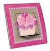 Interrupteur décoré Cupcake rose avec cadre