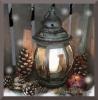 Interrupteur décoré lanterne