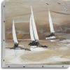 TABLEAU UNO 20X20 3 VOILIERS