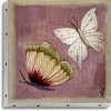TABLEAU UNO 20X20 PAPILLONS ROSE
