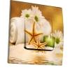 Interrupteur décoré Fleurs, étoiles de mer, bougies