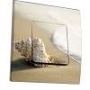 Interrupteur décoré Coquillage au bord de la mer