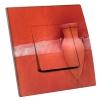 Interrupteur décoré Amphore sur mur orange