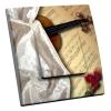 Interrupteur décoré Violon et Roses