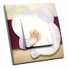 Interrupteur décoré Orchidée White