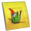 Interrupteur décoré Pierrot le Moineau