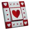 Interrupteur décoré Coeur de Tissu L.FAYS