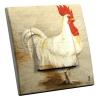Interrupteur décoré Coq Blanc