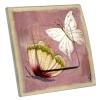 Interrupteur décoré Papillon Rose