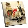 Interrupteur décoré Poule et Coq