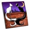 Interrupteur décoré Chats au clair de lune