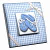 Interrupteur décoré Chaussons Bleus