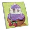 Interrupteur décoré religieuse violet