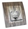 Interrupteur décoré Chalet dans coeur