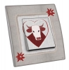 Interrupteur décoré Vache dans coeur