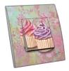Interrupteur décoré  Muffins sur tapisserie - MARTINI