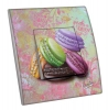 Interrupteur décoré  Macarons sur tapisserie - MARTINI