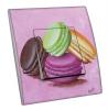 Interrupteur décoré  Macarons sur fond rose - MARTINI