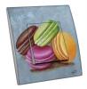 Interrupteur décoré  Macarons sur fond gris - MARTINI