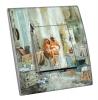Interrupteur décoré  Atelier Collage - Sortie de bain
