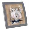 Interrupteur décoré  Tiens un chat ! - J.WOLFF
