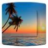 Interrupteur décoré Coucher de soleil avec palmier